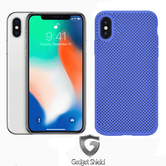 Gadget Shield Mesh Silicone Blue for Huawei P Smart 2019