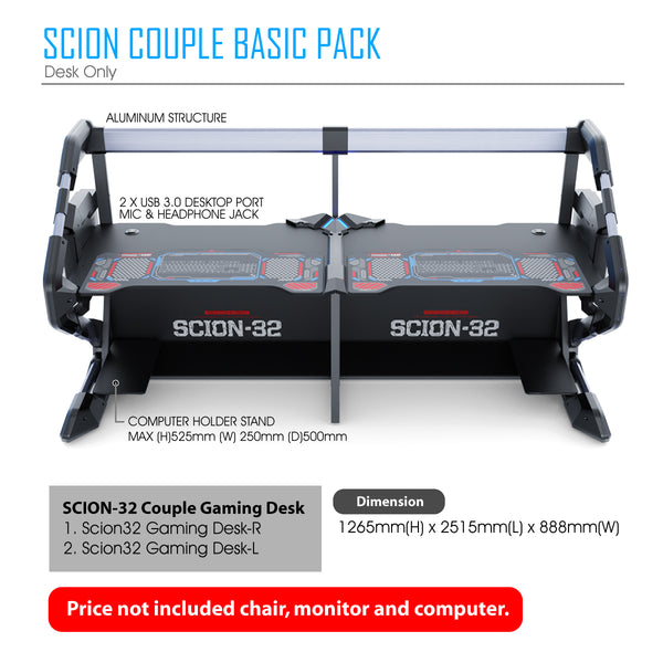 Scion32-Couple gaming desk