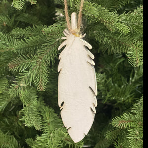 Wood Feather Ornament