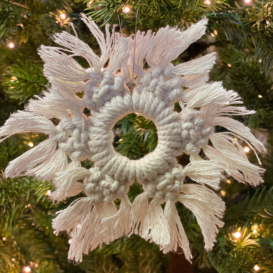 6 Tipped Snowflake Ornaments