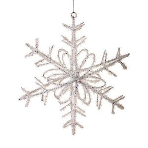 "8"" Glitter Sequin Snowflake Ornament"