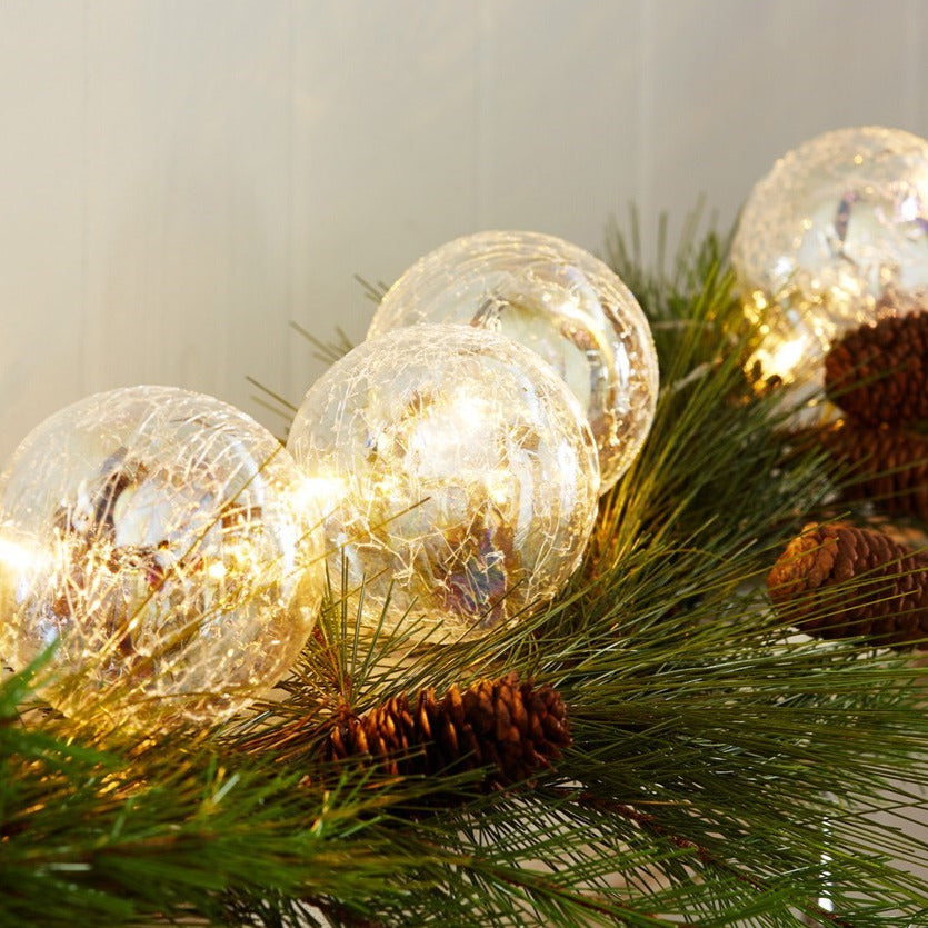 LED Ball Ornament Garland