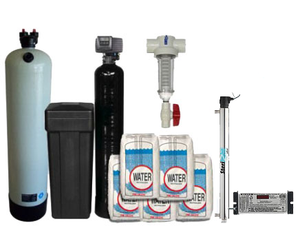 Clack 2.5 Acid Neutralizer, Fleck 5600SXT 48,000 Grain Deluxe Water Softener & Viqua VH200 UV System