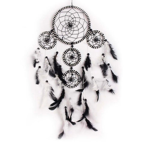 "Black and White Dream Catcher <br/>""Chayton"" - dreamcatchers-shop.com"