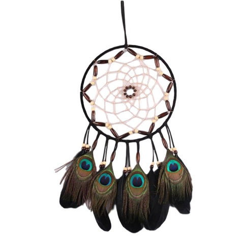 "Peacock Dream Catcher <br/>""Ehawee"" - dreamcatchers-shop.com"