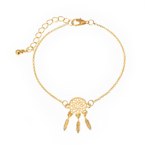 Dream Catcher Bracelet Gold - dreamcatchers-shop.com