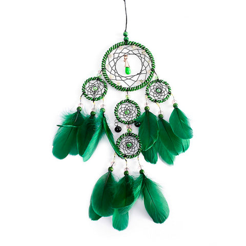 "Green Dream Catcher <br/>""Isha"" - dreamcatchers-shop.com"