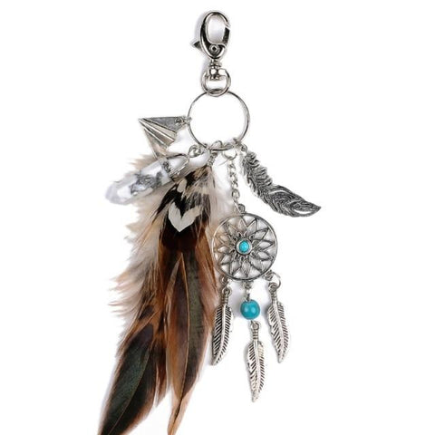 Indian Dream Catcher Keychain - dreamcatchers-shop.com