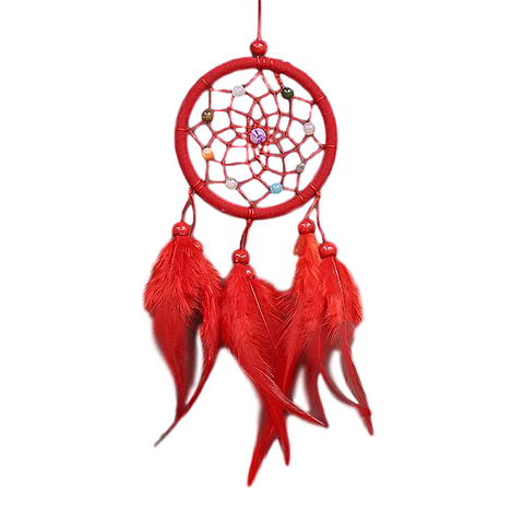 "Red Dream Catcher <br/>""Coahoma"" - dreamcatchers-shop.com"