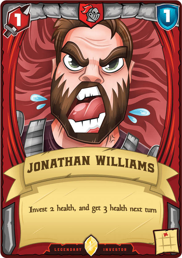 Johnathan Williams playing card - Invest 2 health, get 3 health next turn