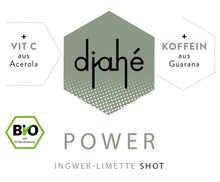 Laden Sie das Bild in den Galerie-Viewer, djahé Bio Ingwer-Limette Shot POWER 6er Box