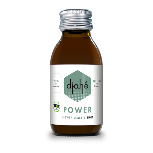 djahé Bio Ingwer-Limette Shot POWER 12er Box