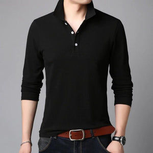 Premium Long Sleeve Polo Shirt