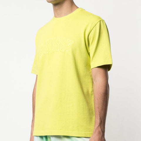 Stussy Arch Crew T-Shirt in Lime