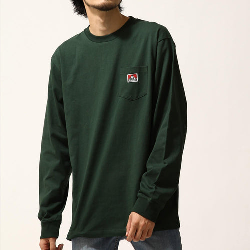 Ben Davis Pocket L/S Tee Dark Green