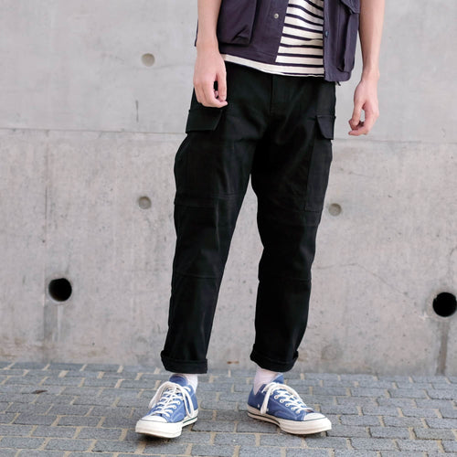 Boysnextdoor Cropped Cargo Chino Pants in Black