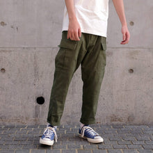 Load image into Gallery viewer, Boysnextdoor Cropped Cargo Chino Pants in Green