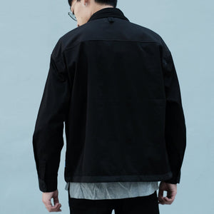 Boysnextdoor Patchwork Shirt Jacket Black