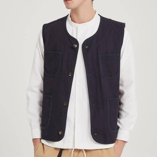 Boysnextdoor Retro Worker Vest Navy