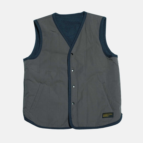 Boysnextdoor Reversible Quilted Vest Navy