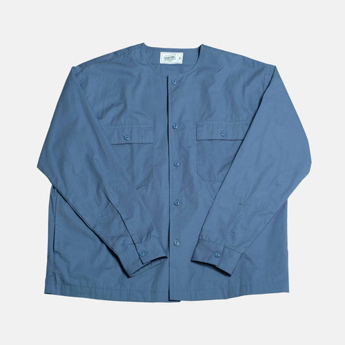 Boysnextdoor Round Collar Shirt Jacket Blue