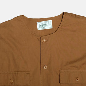 Boysnextdoor Round Collar Shirt Jacket Brown