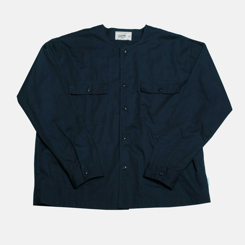 Boysnextdoor Round Collar Shirt Jacket Navy