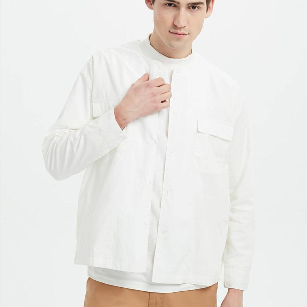 Boysnextdoor Round Collar Shirt Jacket White
