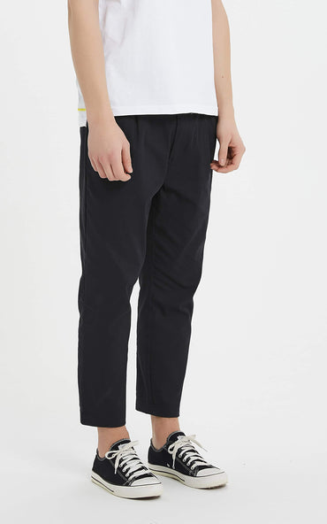 Boysnextdoor Tapered Cropped Chino Pants Black