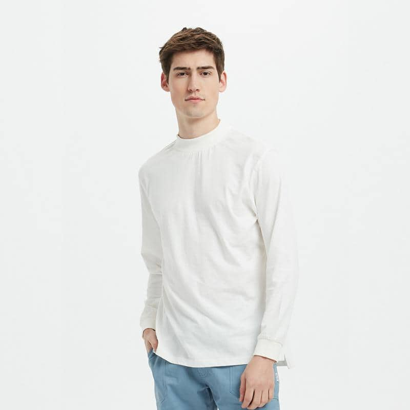 Boysnextdoor Turtle Neck L/S Tee White