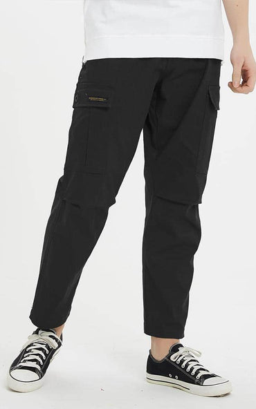 Boysnextdoor Wide Cargo Chino Pants in Black