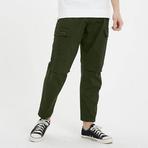 Boysnextdoor Wide Cargo Chino Pants in Green