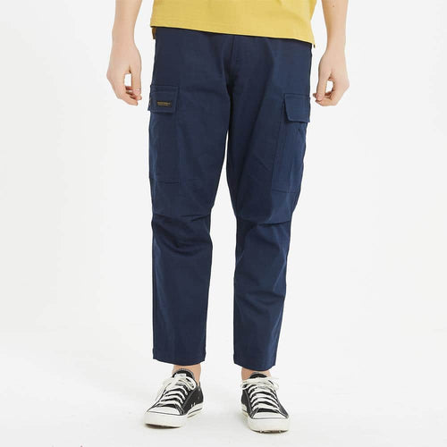 Boysnextdoor Wide Cargo Chino Pants in Navy
