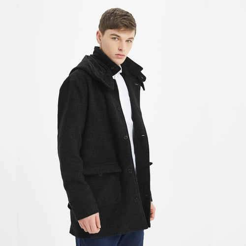 Boysnextdoor Wool Long Coat Black
