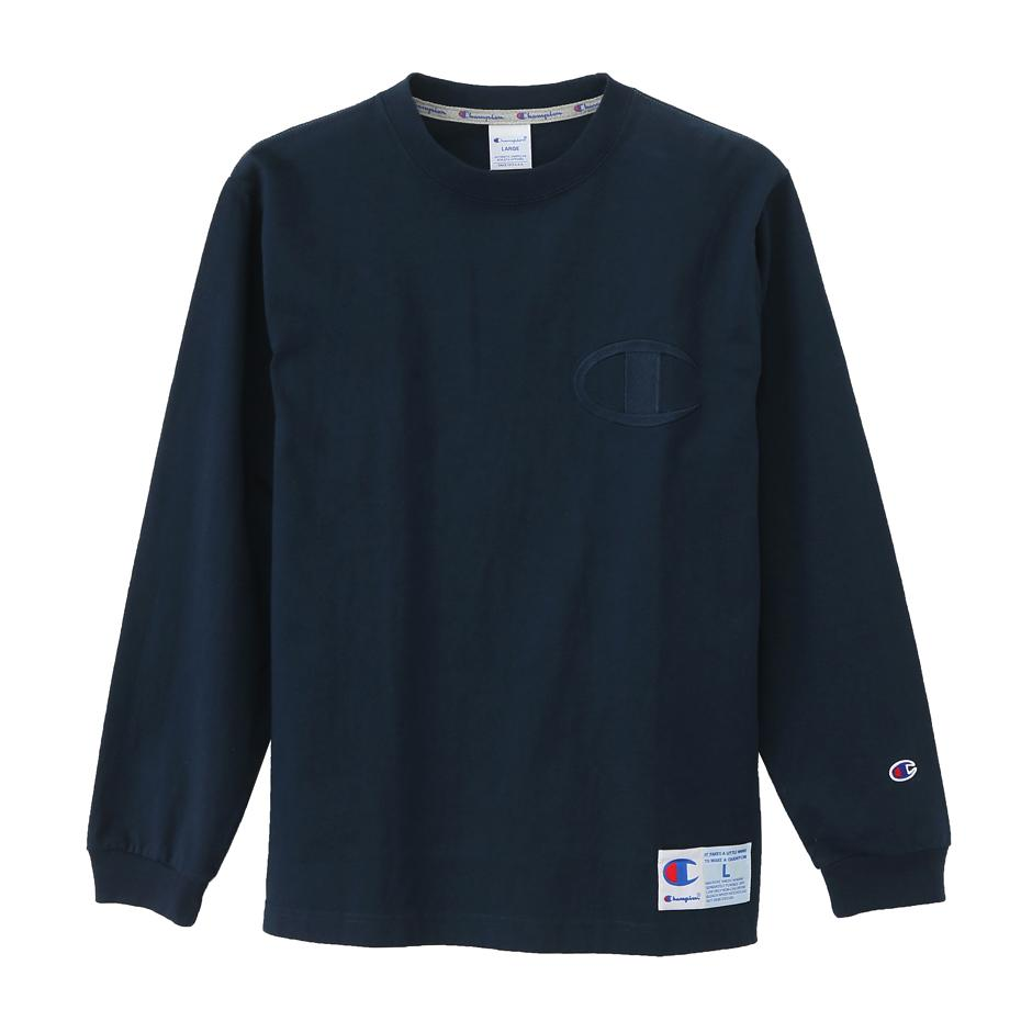 Champion AS Logo L/S T-shirt Navy