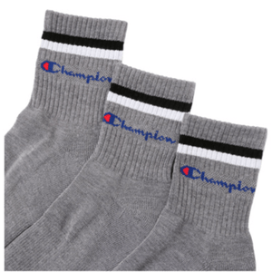 Champion Low Crew Socks Grey 3P