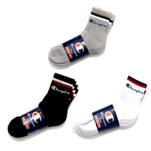 Load image into Gallery viewer, Champion Low Crew Socks Grey 3P