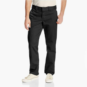 Dickies 830 Slim Fit Tapered Leg Work Pants in Black