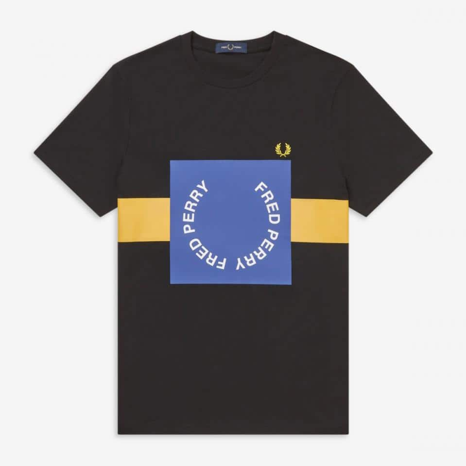 Fred Perry Bold Graphic T-Shirt Black
