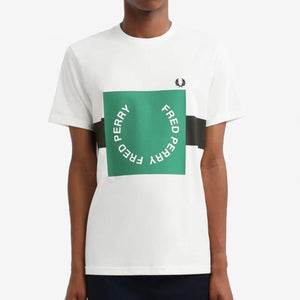 Fred Perry Bold Graphic T-Shirt White