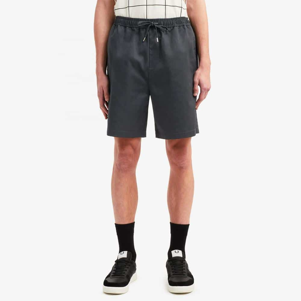 Fred Perry Drawstring Twill Short Navy