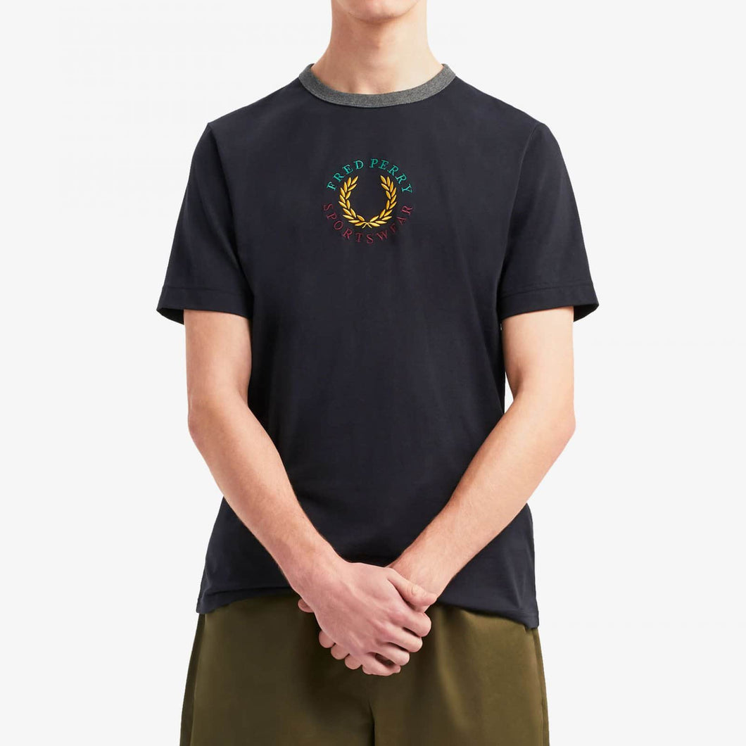 Fred Perry Embroidered T-Shirt Black