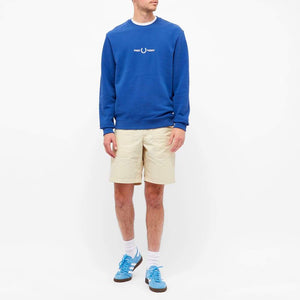 Fred Perry Graphic Sweatshirt Blue