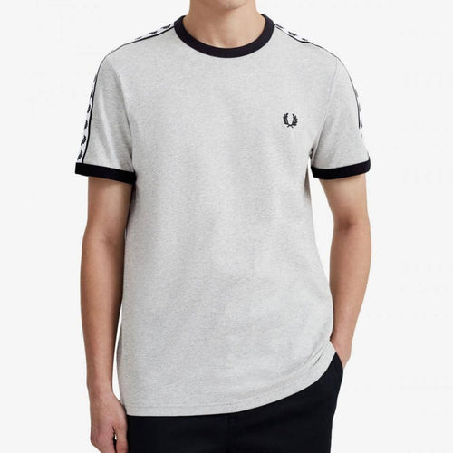 Fred Perry Taped Ringer T-Shirt Grey
