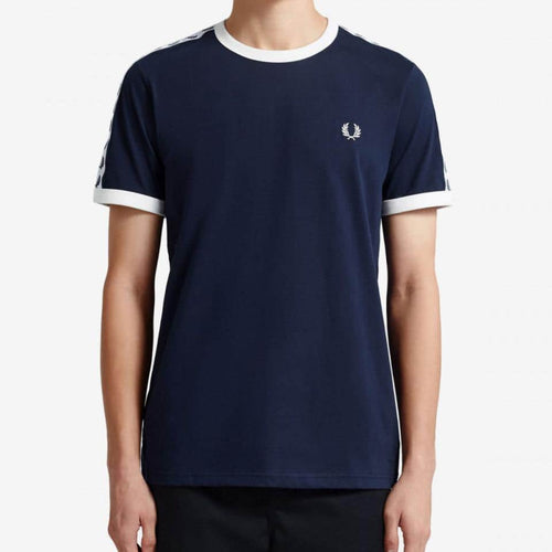Fred Perry Taped Ringer T-Shirt Navy