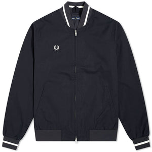 Fred Perry Tennis Bomber Jacket Navy White