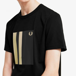 Fred Perry Tipped Graphic T-Shirt Black