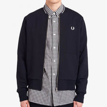 Load image into Gallery viewer, Fred Perry Zip Bomber Black