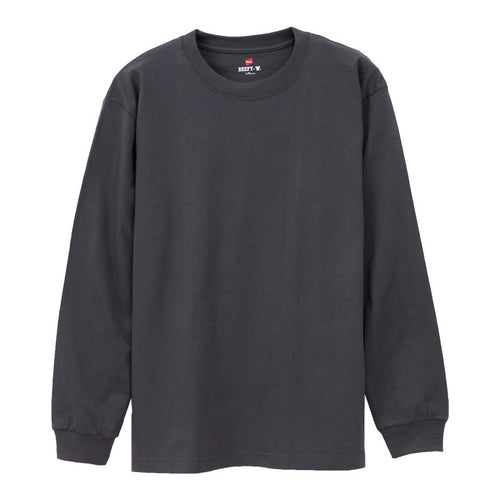 Hanes Beefy Heavyweight L/S Tee Dark Grey