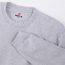 Load image into Gallery viewer, Hanes Beefy Heavyweight L/S Tee Grey